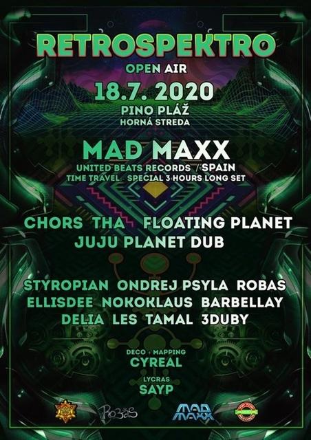 Party Flyer RetroSpektro Open Air w./ MAD MAXX 18 Jul '20, 19:30
