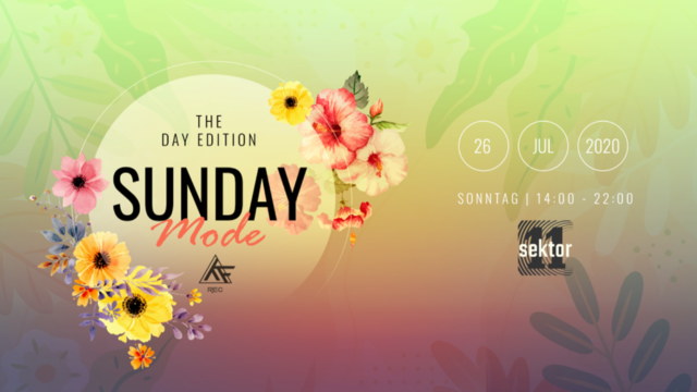 Party Flyer ♫★ SundayMode4♫★ Day Edition w// Sphynx / Audiobass / Phazed 26 Jul '20, 12:00
