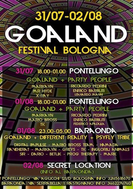 Party Flyer GOALAND FESTIVAL 31 Jul '20, 18:00