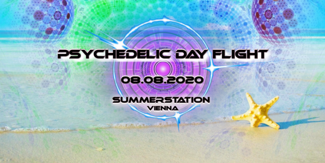 Party Flyer Psychedelic Day Flight 8 Aug '20, 15:00