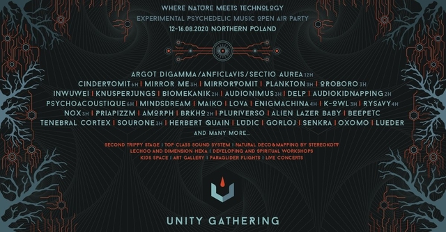 Party Flyer Unity Gathering 2020 - Where Nature Meets Technology 11 Aug '20, 22:00
