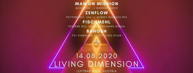 Party Flyer Living Dimension #2 14 Aug '20, 19:00