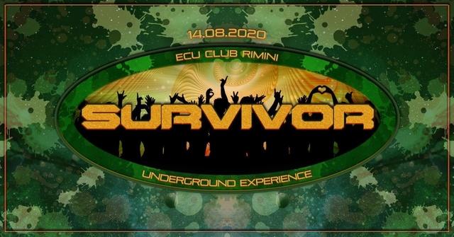 Party Flyer SURVIVOR - FERRAGOSTO UNDERGROUND 14 Aug '20, 20:00