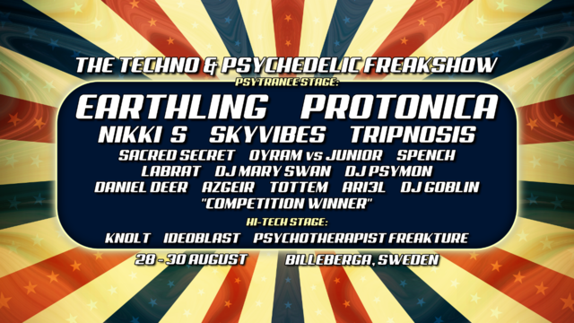 The Techno and Psychedelic Freakshow 28 Aug '20, 17:00