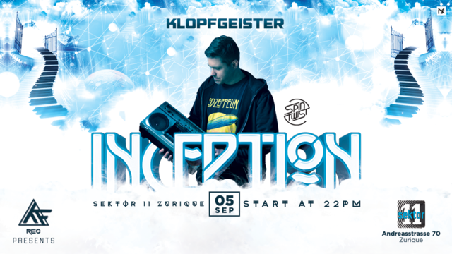 Party Flyer ☆INCEPTION☆ w// Klopfgeister 5 Sep '20, 22:00