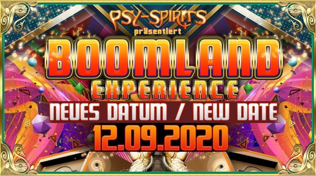 Party Flyer BOOMLAND Experience 12 Sep '20, 22:00