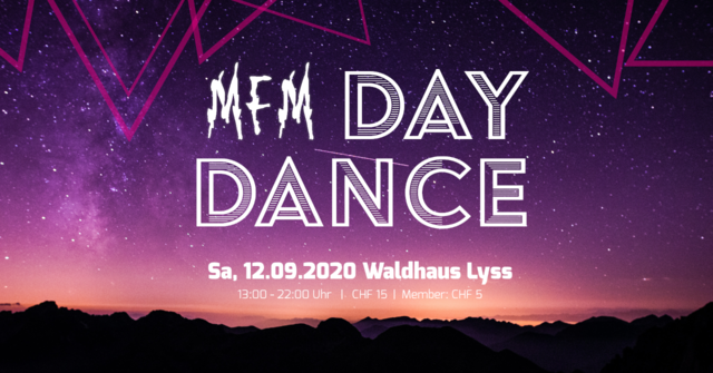 Party Flyer MFM Day Dance Lyss 12 Sep '20, 13:00