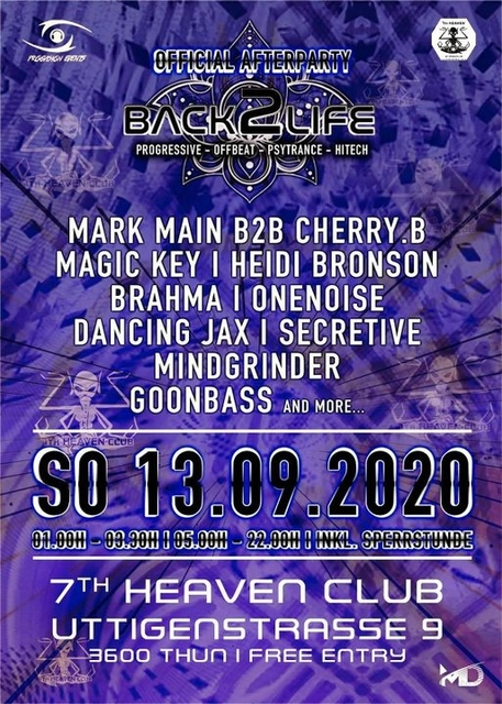 Party Flyer Back to Life Afterhour 13 Sep '20, 05:00