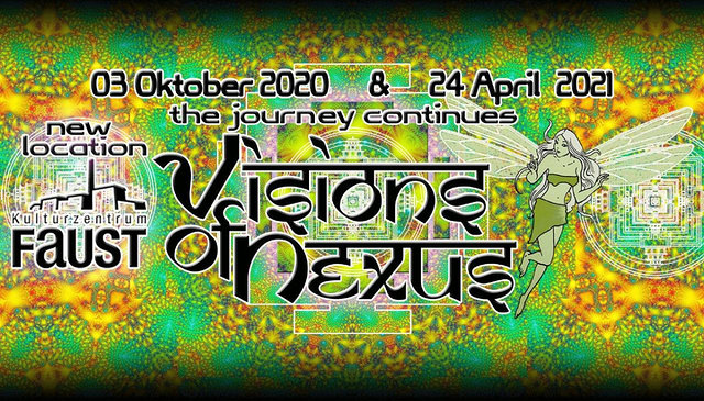 Party Flyer Visions of Nexus 24 Apr '21, 23:00