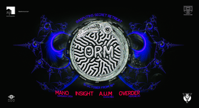 Party Flyer ORM: Overder/ Insight/ Mano/ A.U.M 10 Oct '20, 18:00