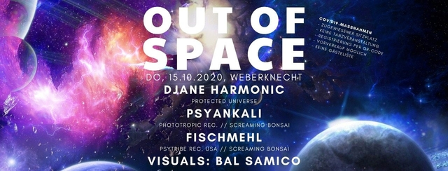 Party Flyer Out Of Space 15 Oct '20, 20:00
