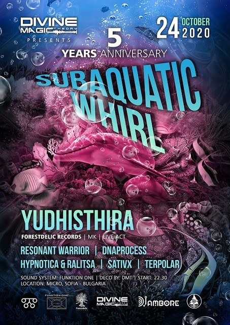 Party Flyer Divine Magic Theory presents: Subaquatic Whirl 24 Oct '20, 22:00