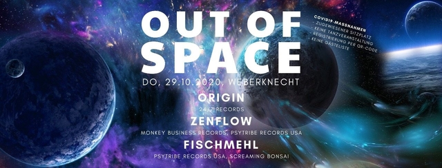 Party Flyer Out Of Space Halloween Special 29 Oct '20, 20:00