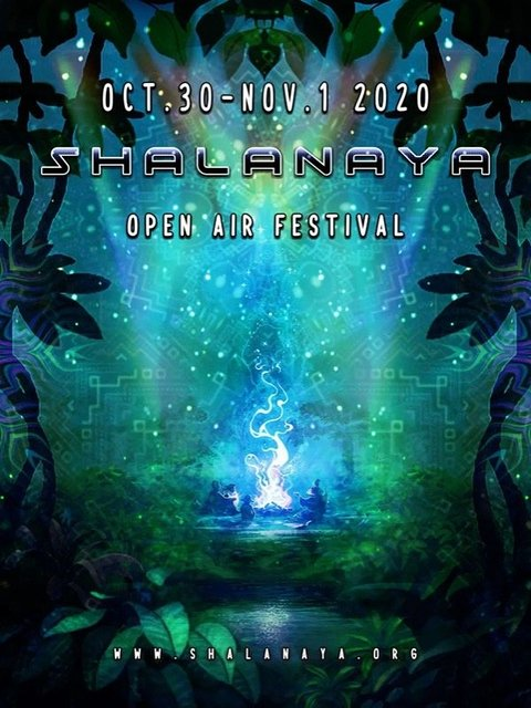 Party Flyer Shalanaya Open Air Festival 30 Oct '20, 22:00