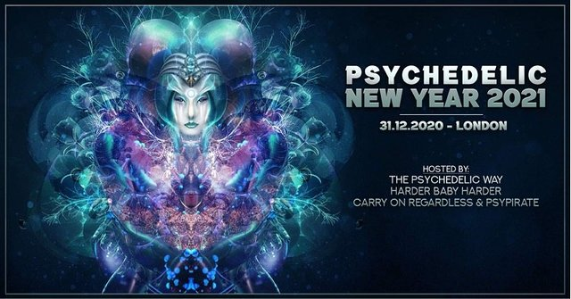 Party Flyer Psychedelic New Year 2021 31 Dec '20, 22:00