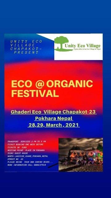 Party Flyer Eco @ Organic festival 28 Mar '21, 22:00
