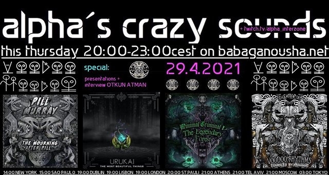 Party Flyer alpha.s crazy sounds: VOODOO HOODOO SPECIAL releases + interview 29 Apr '21, 20:00
