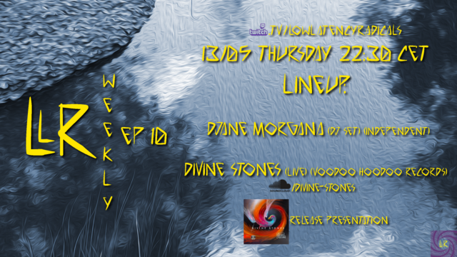 Party Flyer lowlatencyradicals_weekly ep10 13 May '21, 22:30