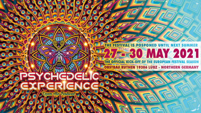Party Flyer Psychedelic Experience Festival 2021 27 May '21, 14:00