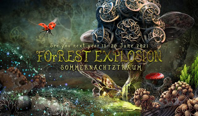 Party Flyer ForRest-Explosion Sommernachtztraum Festival 2021 18 Jun '21, 22:00