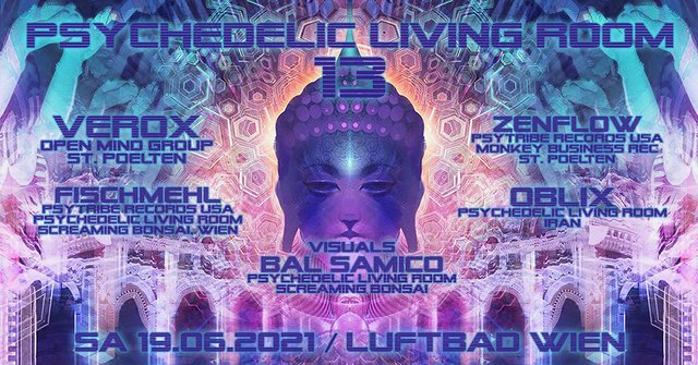 Party Flyer Psychedelic Living Room #13 19 Jun '21, 19:00