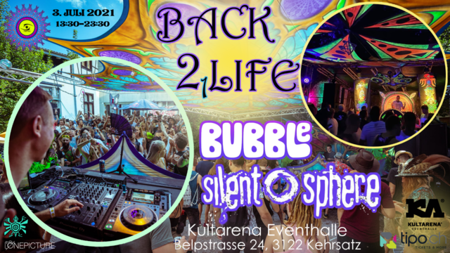 Party Flyer ProgVisions BACK 2 LIFE Daydance w/ Bubble,Silent Sphere uvm. 3 Jul '21, 13:30