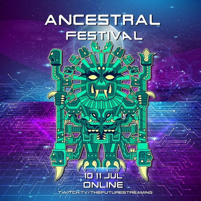 Party Flyer ANCESTRAL FESTIVAL - Septima Edición - RAVE ONLINE 10 Jul '21, 00:00