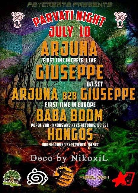 Party Flyer PARVATI LABEL NIGHT 10 Jul '21, 22:00