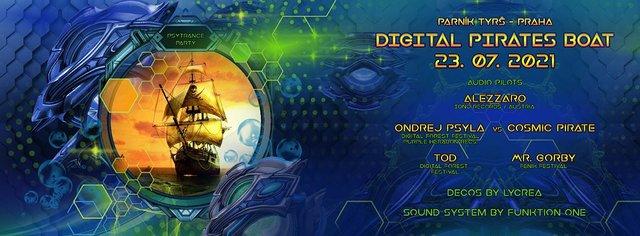 Party Flyer Digital Pirates Boat 23 Jul '21, 16:30