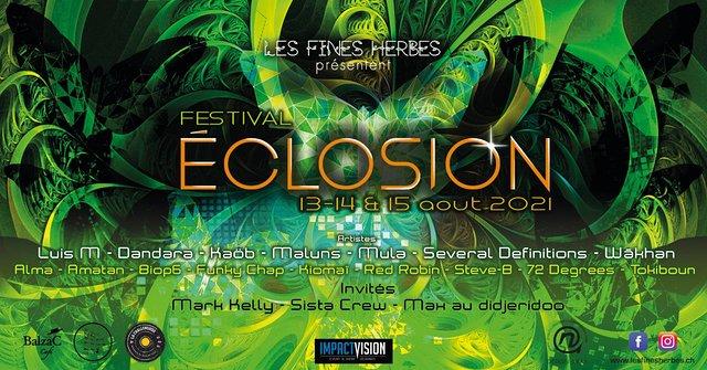Éclosion Festival 2021 13 Aug '21, 15:00