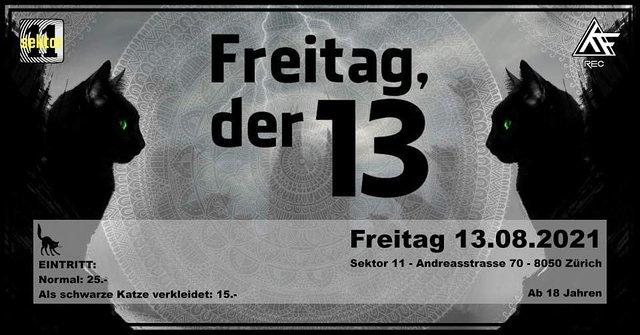Party Flyer Freitag Der 13 13 Aug '21, 22:00