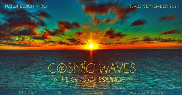 Party Flyer COSMIC WAVES ~ The Gifts of Equinox ~ 16 Sep '21, 18:00