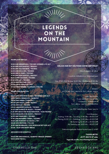Party Flyer Legends on the Mountain 17 Sep '21, 12:00