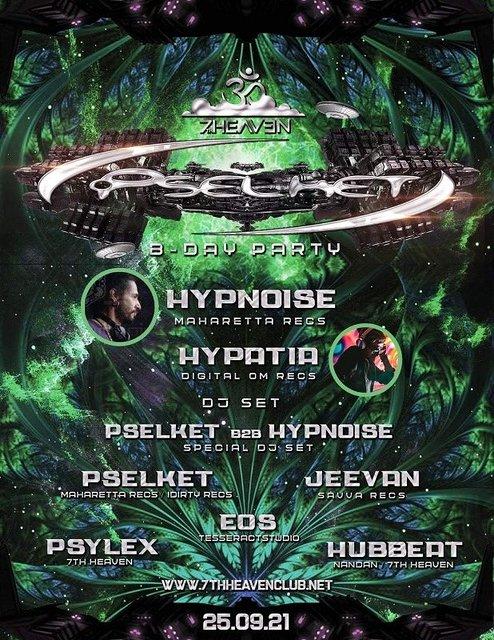 Party Flyer Dj Pselket B'Day Bash 25 Sep '21, 22:00