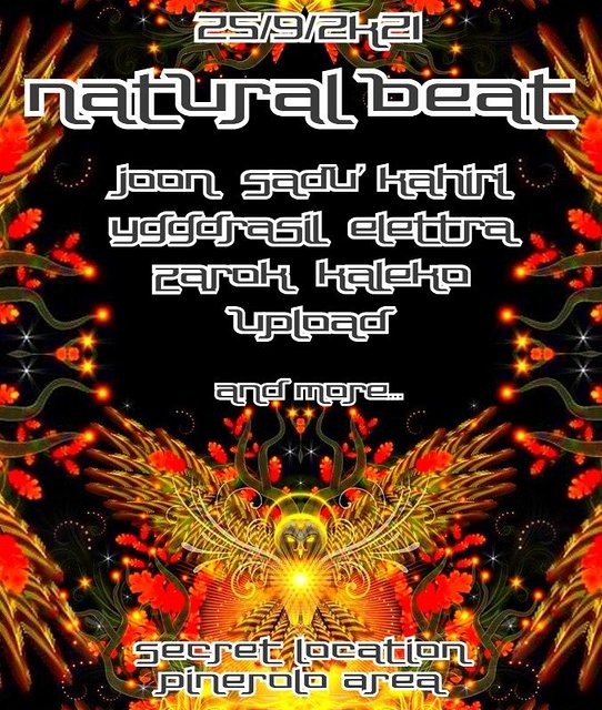 Party Flyer NATURAL BEAT // CLOSING SEASON PARTY // SONIC TREE PROJECT 25 Sep '21, 21:00