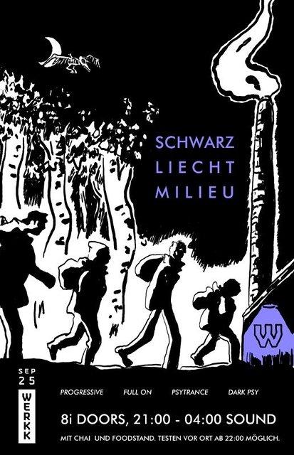 Party Flyer Schwarzliechtmilieu 25 Sep '21, 20:00