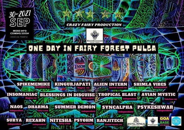 Party Flyer ONE DAY IN FAIRY FOREST PULGA 30 Sep '21, 10:00