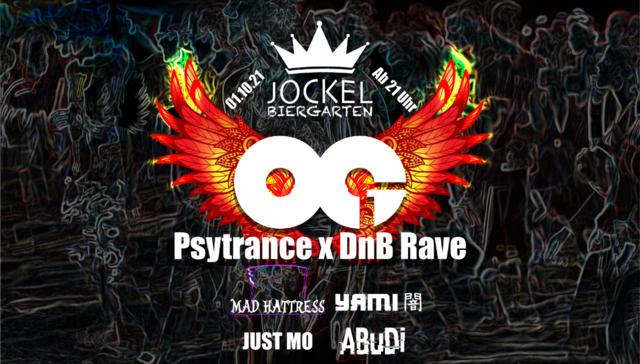 Party Flyer OG Psytrance x DnB Rave (2G) 1 Oct '21, 21:00