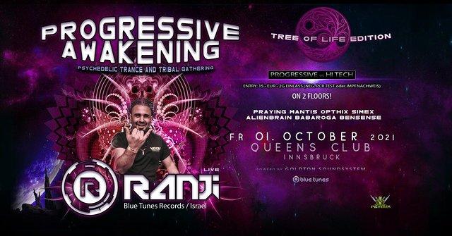 Party Flyer Psybox - Progressive Awakening with RANJI *live 1 Oct '21, 21:00