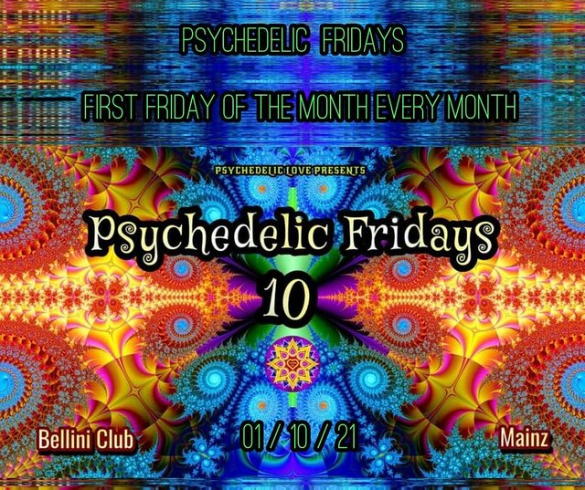 Party Flyer Psychedelic fridays #10 1 Oct '21, 22:00