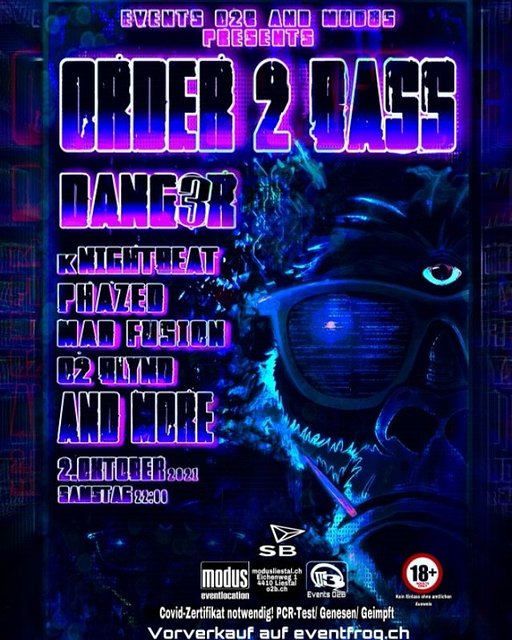 Party Flyer Order 2 Bass 2 Oct '21, 22:00