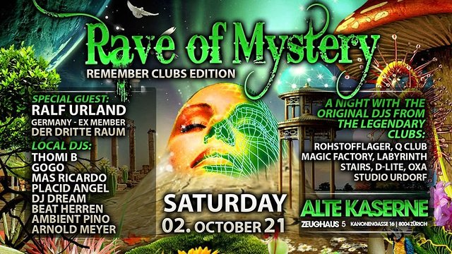 Party Flyer RAVE OF MYSTERY 2 Oct '21, 22:00