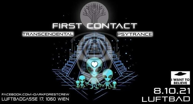 Party Flyer First Contact 8 Oct '21, 22:00