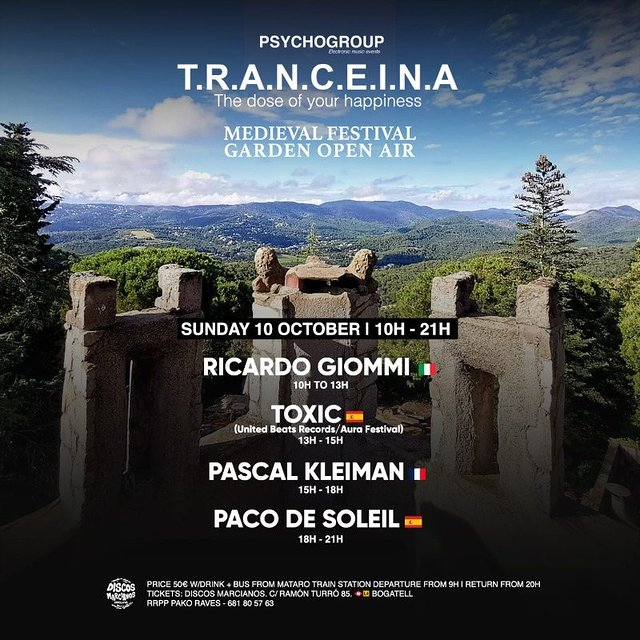 Party Flyer T.R.A.N.C.E.I.N.A (MEDIEVAL FESTIVAL) Garden Open Air 10 Oct '21, 10:00