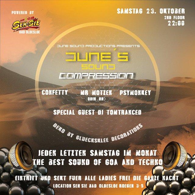Dune´s Sound Compression & Ladies Night 23 Oct '21, 22:00