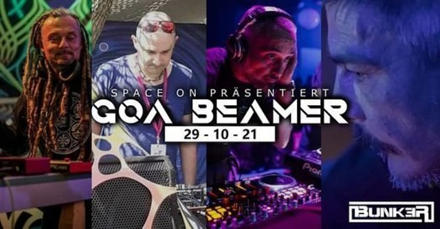 """Party Flyer Space On pres.""""GOA BEAMER"""" 29 Oct '21, 23:00"""