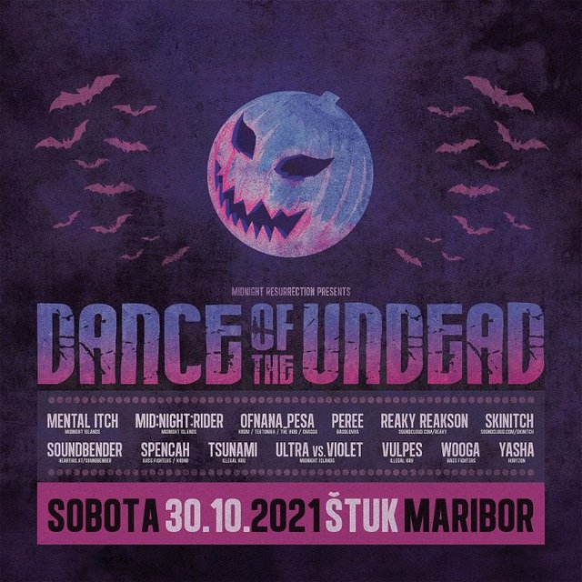 Dance Of The Undead 2021 30 Oct '21, 22:00
