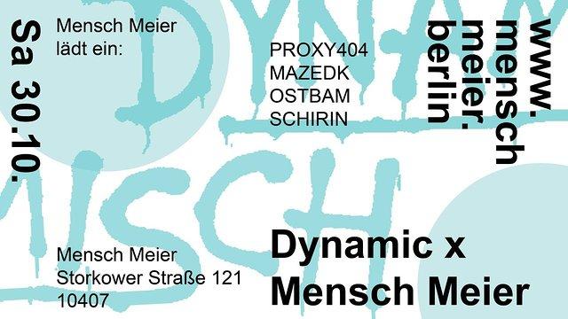 DYNAMIC x MENSCH MEIER (HALLOWEEN SPECIAL) 30 Oct '21, 14:00
