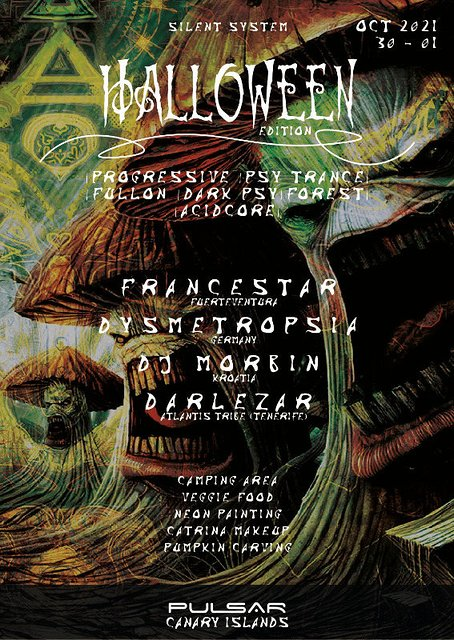 Halloween Psychedelic Experience (Silent Disco at Nature) 30 Oct '21, 20:00