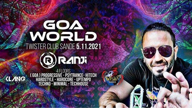 Party Flyer Goa World / Ranji Live / 4 Floors 5 Nov '21, 22:00